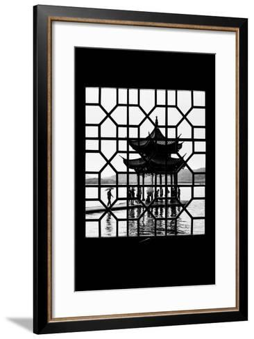China 10MKm2 Collection - Asian Window - Temple Lake-Philippe Hugonnard-Framed Art Print