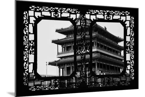 China 10MKm2 Collection - Asian Window - Qianmen Temple - Beijing-Philippe Hugonnard-Mounted Photographic Print