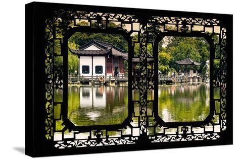 China 10MKm2 Collection - Asian Window - Temple Reflections-Philippe Hugonnard-Stretched Canvas Print