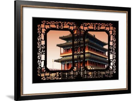 China 10MKm2 Collection - Asian Window - Qianmen Beijing-Philippe Hugonnard-Framed Art Print