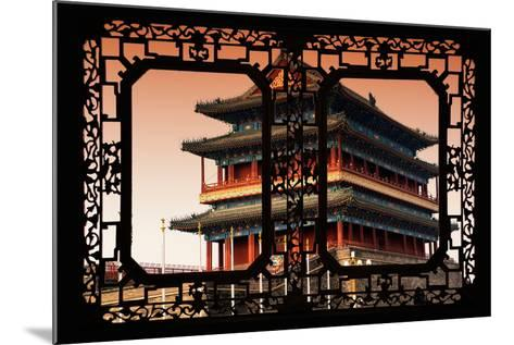 China 10MKm2 Collection - Asian Window - Qianmen Beijing-Philippe Hugonnard-Mounted Photographic Print