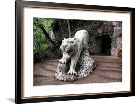 China 10MKm2 Collection - Lion - Buddhist Sculpture-Philippe Hugonnard-Framed Art Print