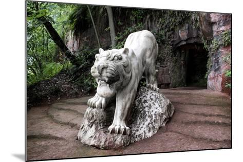 China 10MKm2 Collection - Lion - Buddhist Sculpture-Philippe Hugonnard-Mounted Photographic Print
