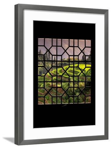 China 10MKm2 Collection - Asian Window - Rice Terraces - Longsheng Ping'an - Guangxi-Philippe Hugonnard-Framed Art Print