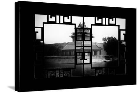 China 10MKm2 Collection - Asian Window - Watchtower - Forbidden City-Philippe Hugonnard-Stretched Canvas Print