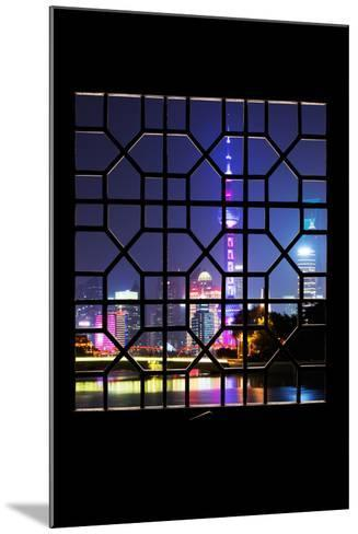 China 10MKm2 Collection - Asian Window - Shanghai Cityscape at night-Philippe Hugonnard-Mounted Photographic Print