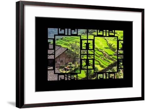 China 10MKm2 Collection - Asian Window - Rice Terraces - Longsheng Ping'an - Guangxi-Philippe Hugonnard-Framed Art Print