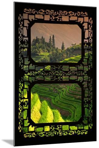 China 10MKm2 Collection - Asian Window - Rice Terraces - Longsheng Ping'an - Guangxi-Philippe Hugonnard-Mounted Photographic Print