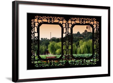 China 10MKm2 Collection - Asian Window - Lotus Flowers - Beihai Park-Philippe Hugonnard-Framed Art Print