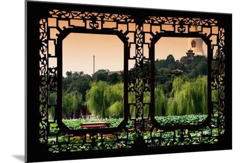 China 10MKm2 Collection - Asian Window - Lotus Flowers - Beihai Park-Philippe Hugonnard-Mounted Photographic Print