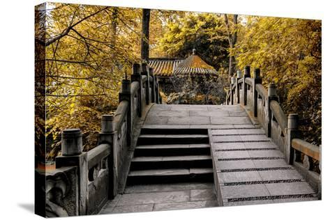 China 10MKm2 Collection - Chinese Bridge in Autumn-Philippe Hugonnard-Stretched Canvas Print