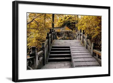 China 10MKm2 Collection - Chinese Bridge in Autumn-Philippe Hugonnard-Framed Art Print