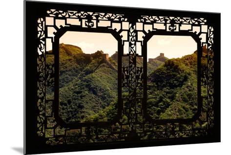 China 10MKm2 Collection - Asian Window - Great Wall of China-Philippe Hugonnard-Mounted Photographic Print