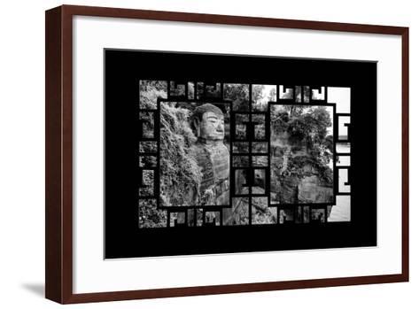 China 10MKm2 Collection - Asian Window - Giant Buddha of Leshan-Philippe Hugonnard-Framed Art Print