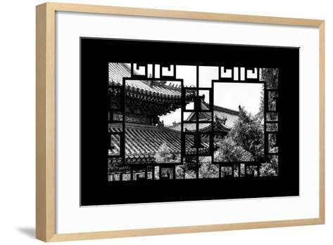 China 10MKm2 Collection - Asian Window - Summer Palace Architecture-Philippe Hugonnard-Framed Art Print
