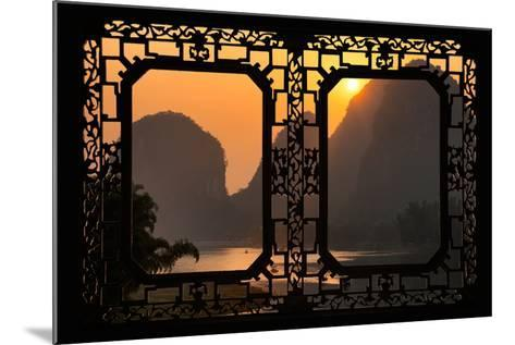 China 10MKm2 Collection - Asian Window - Great View of Yangshuo with Karst Mountains at Sunrise-Philippe Hugonnard-Mounted Photographic Print