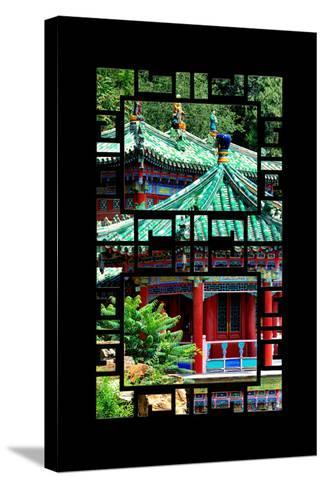China 10MKm2 Collection - Asian Window - Summer Palace Architecture-Philippe Hugonnard-Stretched Canvas Print