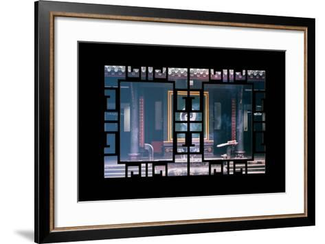 China 10MKm2 Collection - Asian Window - Yin Yang Temple-Philippe Hugonnard-Framed Art Print