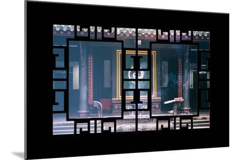 China 10MKm2 Collection - Asian Window - Yin Yang Temple-Philippe Hugonnard-Mounted Photographic Print
