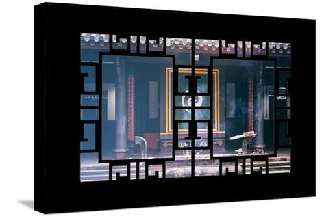 China 10MKm2 Collection - Asian Window - Yin Yang Temple-Philippe Hugonnard-Stretched Canvas Print
