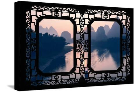 China 10MKm2 Collection - Asian Window - Great View of Yangshuo with Karst Mountains at Sunrise-Philippe Hugonnard-Stretched Canvas Print