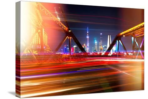 China 10MKm2 Collection - Instants Of Series - Colorful Garden Bridge - Shanghai-Philippe Hugonnard-Stretched Canvas Print