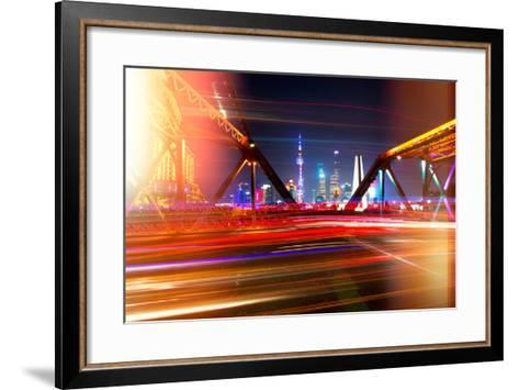 China 10MKm2 Collection - Instants Of Series - Colorful Garden Bridge - Shanghai-Philippe Hugonnard-Framed Art Print