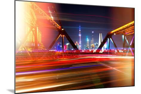 China 10MKm2 Collection - Instants Of Series - Colorful Garden Bridge - Shanghai-Philippe Hugonnard-Mounted Photographic Print