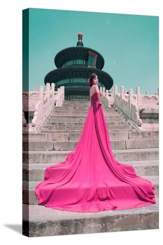 China 10MKm2 Collection - Instants Of Series - Fashion Pink-Philippe Hugonnard-Stretched Canvas Print