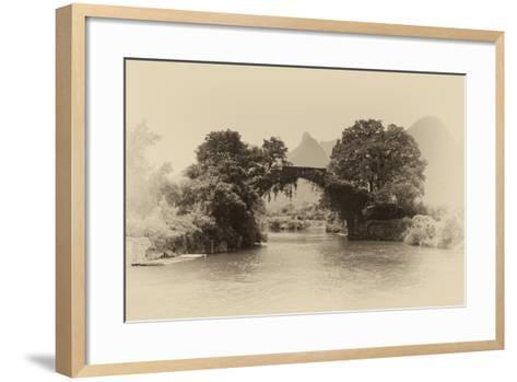 China 10MKm2 Collection - Dragon Bridge on the Yulong river-Philippe Hugonnard-Framed Art Print