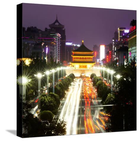 China 10MKm2 Collection - City Night Xi'an-Philippe Hugonnard-Stretched Canvas Print