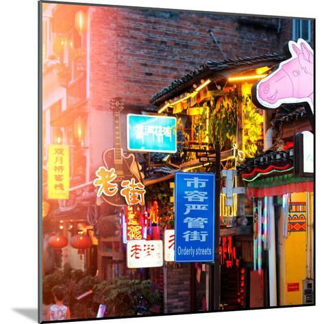 China 10MKm2 Collection - Chinese Signs Night-Philippe Hugonnard-Mounted Photographic Print