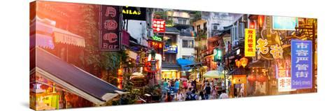 China 10MKm2 Collection - Chinese Signs Night-Philippe Hugonnard-Stretched Canvas Print
