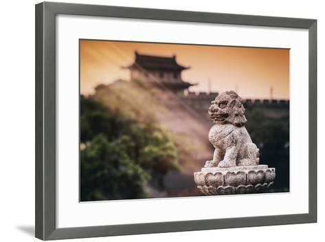 China 10MKm2 Collection - Instants Of Series - Guardian of the Temple-Philippe Hugonnard-Framed Art Print