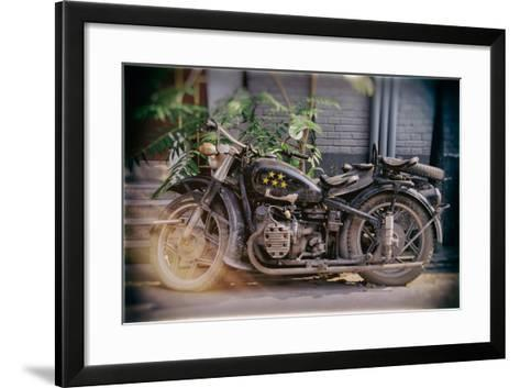 China 10MKm2 Collection - Instants Of Series - Motorcycle Five Stars-Philippe Hugonnard-Framed Art Print
