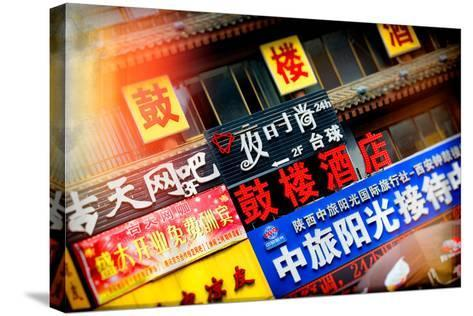 China 10MKm2 Collection - Instants Of Series - Street Signs-Philippe Hugonnard-Stretched Canvas Print