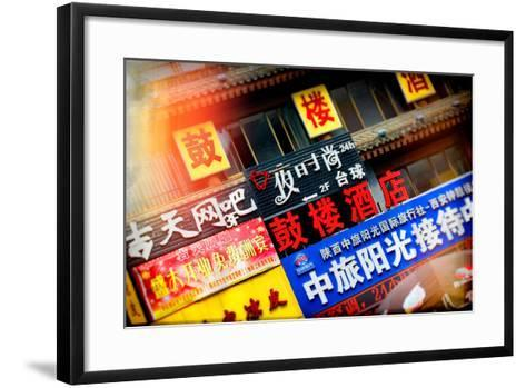 China 10MKm2 Collection - Instants Of Series - Street Signs-Philippe Hugonnard-Framed Art Print