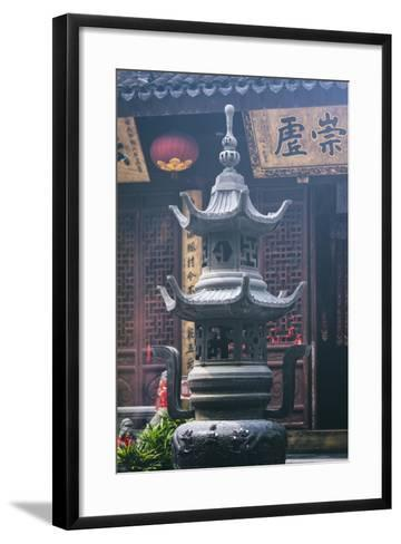 China 10MKm2 Collection - Detail Buddhist Temple-Philippe Hugonnard-Framed Art Print
