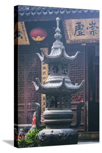 China 10MKm2 Collection - Detail Buddhist Temple-Philippe Hugonnard-Stretched Canvas Print