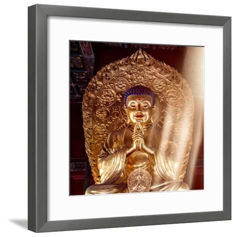 China 10MKm2 Collection - Gold Buddha-Philippe Hugonnard-Framed Art Print