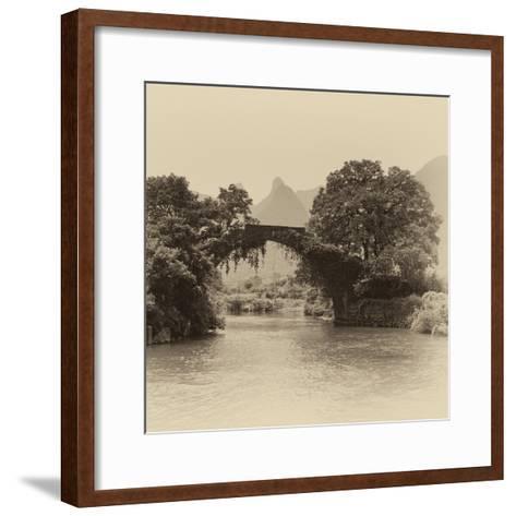 China 10MKm2 Collection - Guilin Yangshuo Bridge-Philippe Hugonnard-Framed Art Print