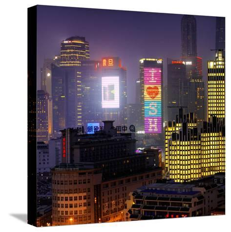 China 10MKm2 Collection - I Love Shanghai-Philippe Hugonnard-Stretched Canvas Print