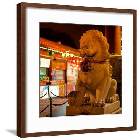 China 10MKm2 Collection - Lion Stands Guard-Philippe Hugonnard-Framed Art Print