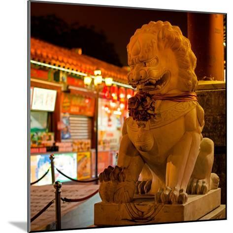 China 10MKm2 Collection - Lion Stands Guard-Philippe Hugonnard-Mounted Photographic Print