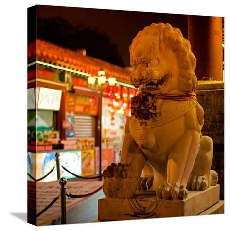 China 10MKm2 Collection - Lion Stands Guard-Philippe Hugonnard-Stretched Canvas Print