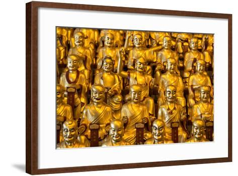 China 10MKm2 Collection - Gold Buddhist Statues in Longhua Temple-Philippe Hugonnard-Framed Art Print