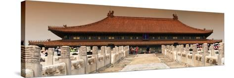 China 10MKm2 Collection - Stairs Forbidden City - Beijing-Philippe Hugonnard-Stretched Canvas Print