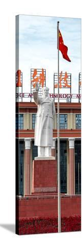 China 10MKm2 Collection - Statue of Mao Zedong-Philippe Hugonnard-Stretched Canvas Print