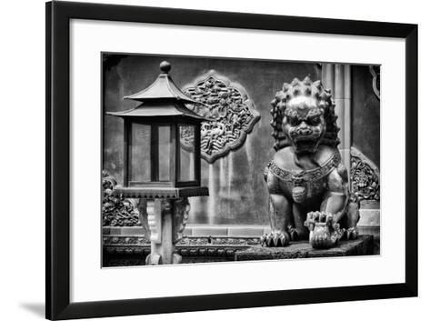 China 10MKm2 Collection - Lion Statue - Forbidden City-Philippe Hugonnard-Framed Art Print