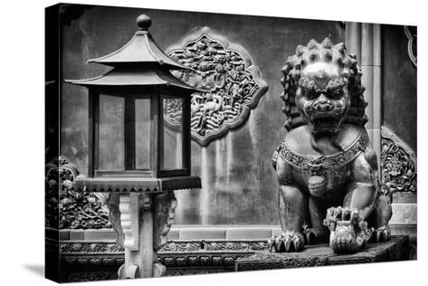China 10MKm2 Collection - Lion Statue - Forbidden City-Philippe Hugonnard-Stretched Canvas Print